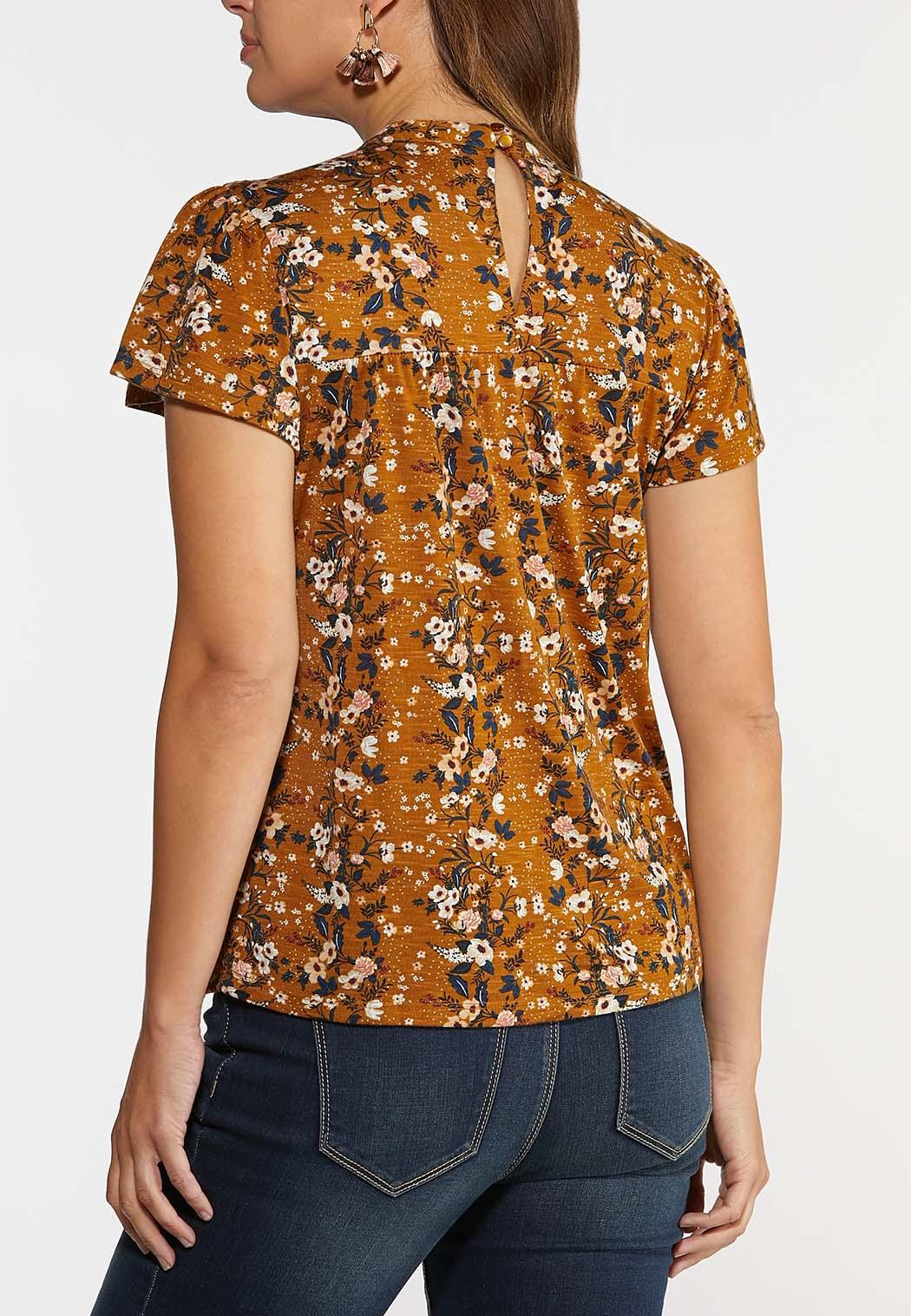 Tiered Lace Floral Top (Item #44348273)