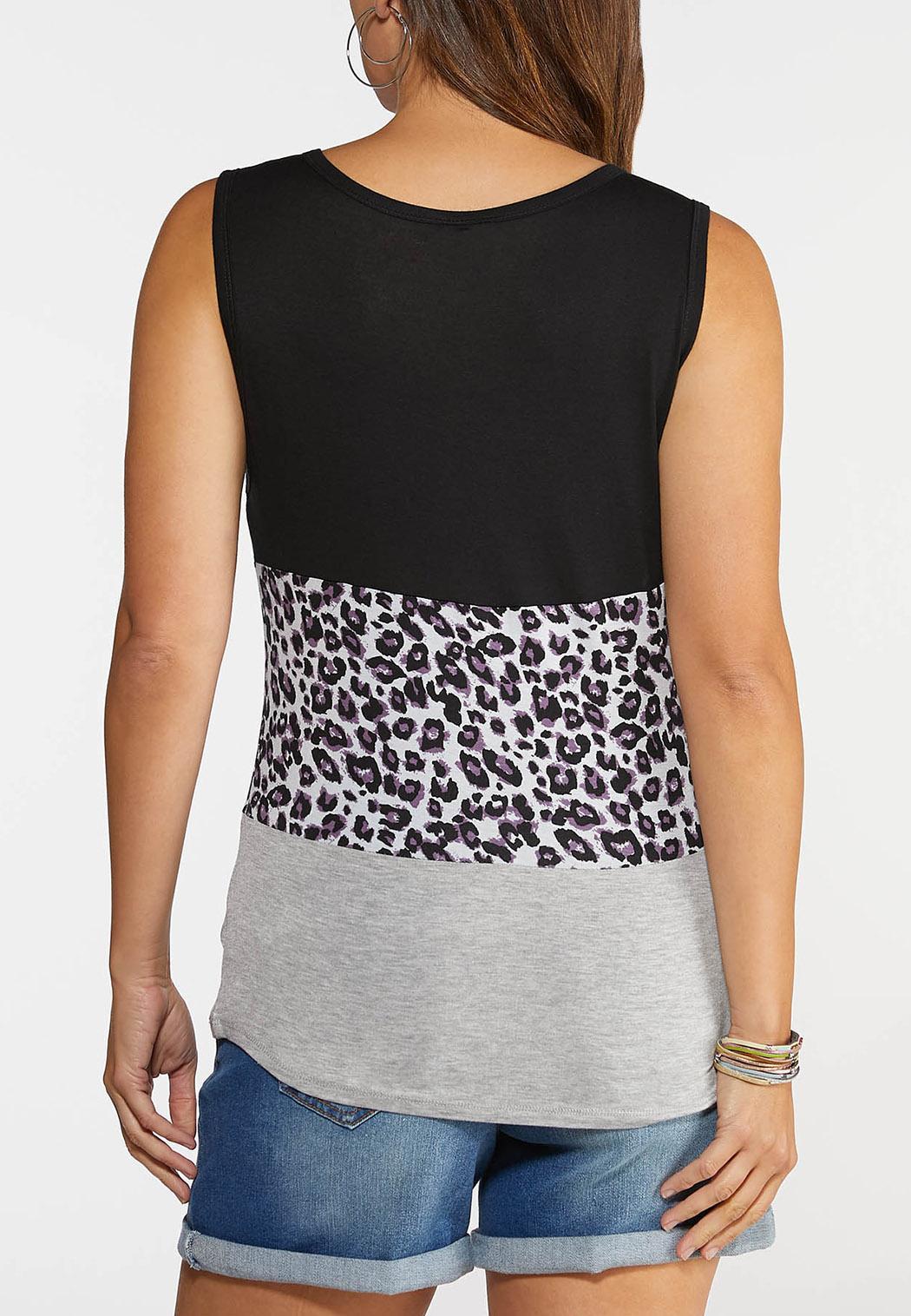 Leopard Colorblock Tank (Item #44348322)