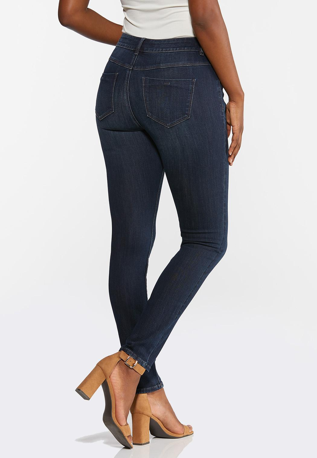 Petite Dark Wash Skinny Jeans (Item #44348436)