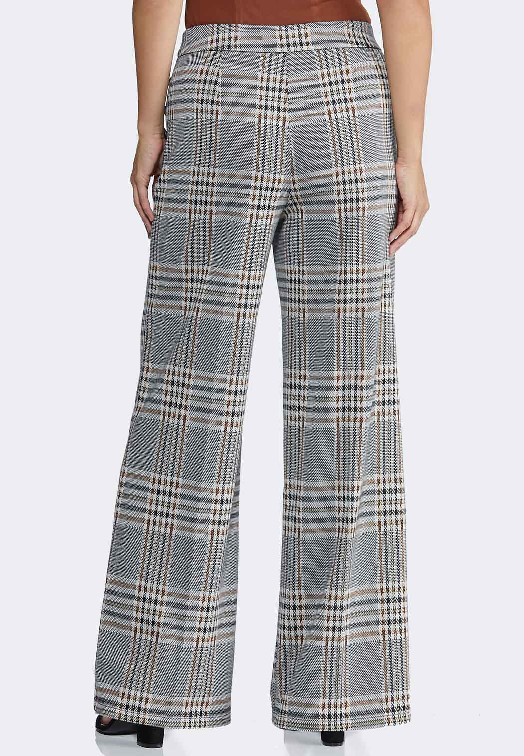 Autumn Plaid Wide Leg Pants (Item #44348783)
