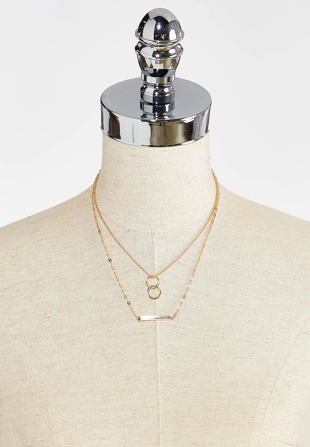 Layered Bar And Ring Necklace (Item #44349718)