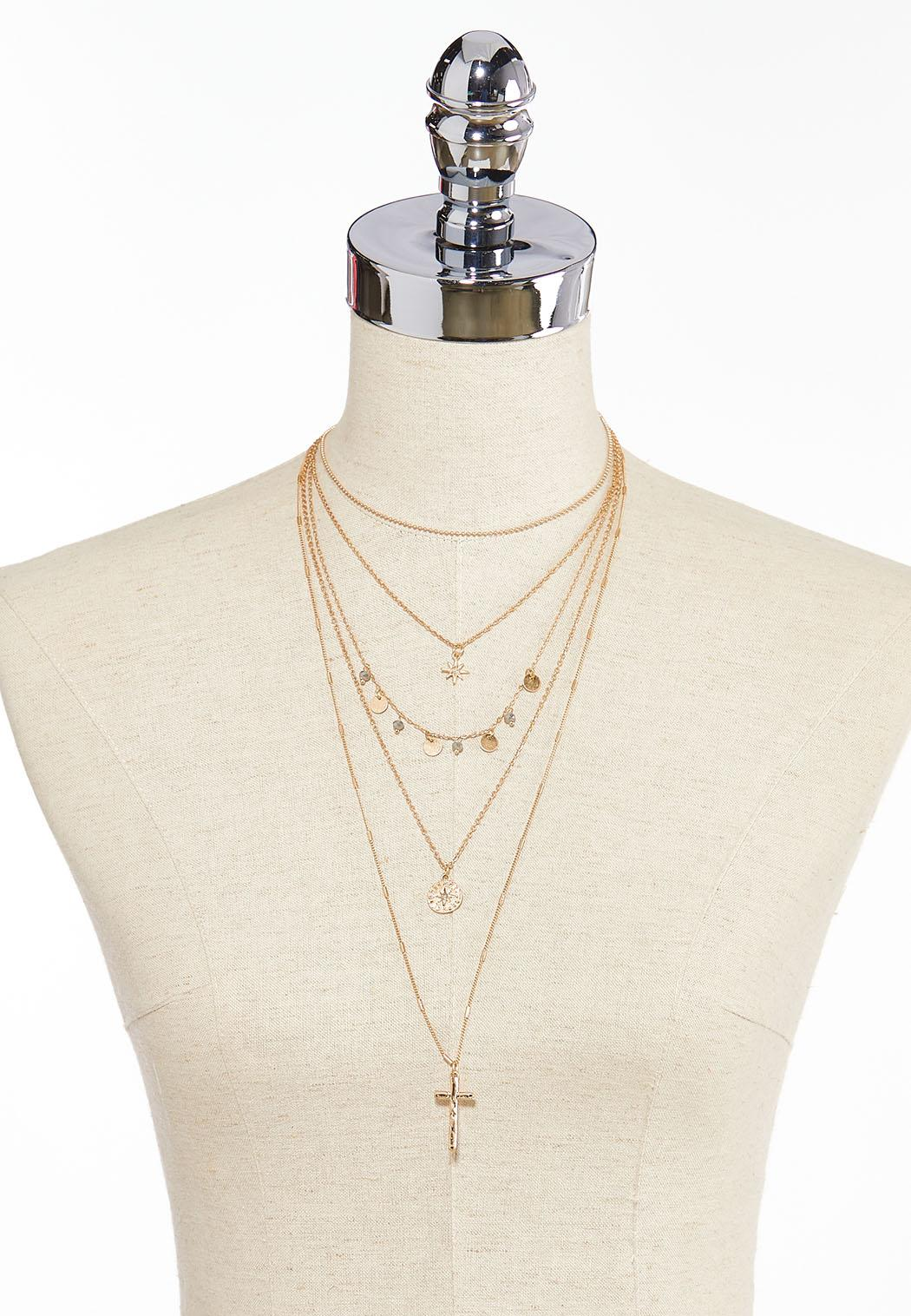 Layered Charm Necklace (Item #44349721)
