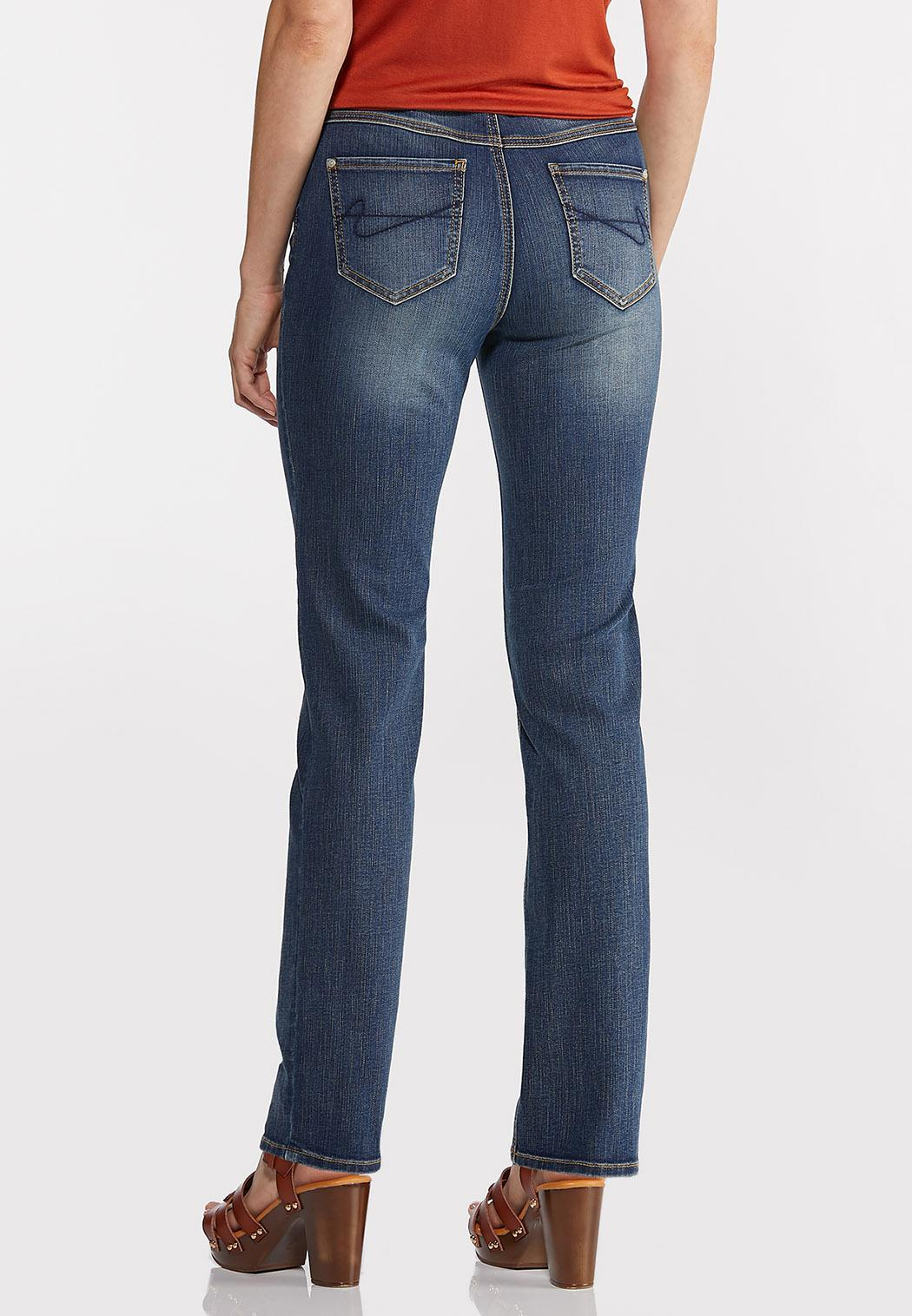 Straight High-Rise Jeans (Item #44350175)