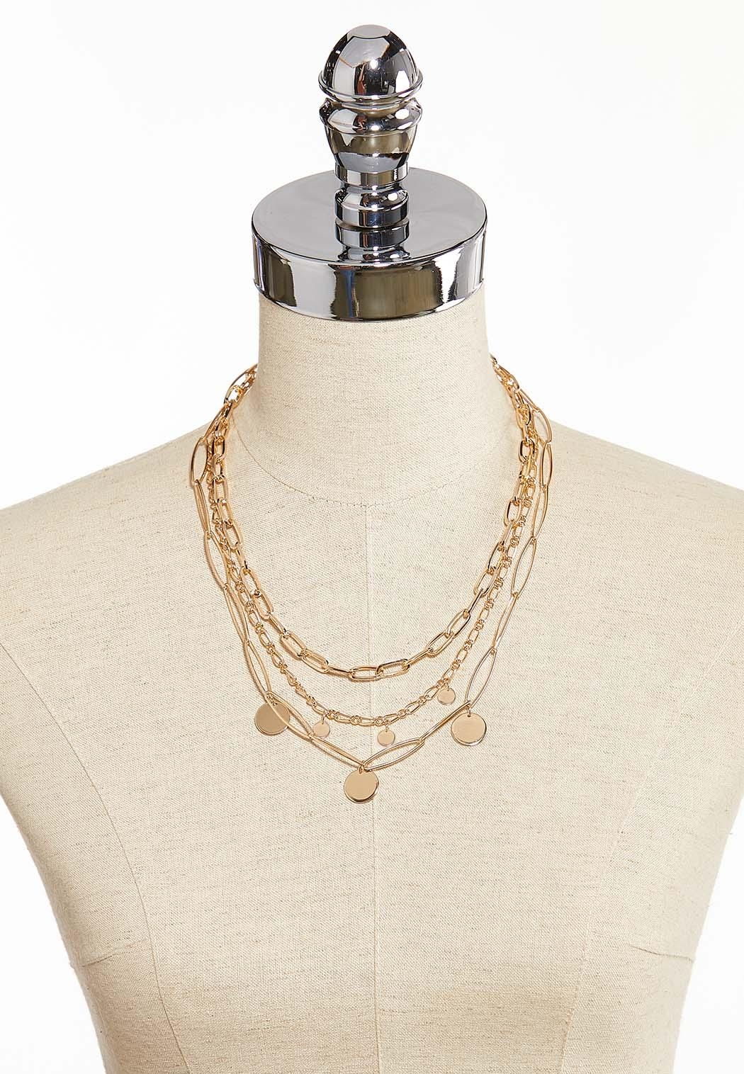 Mixed Gold Chain Necklace (Item #44350203)