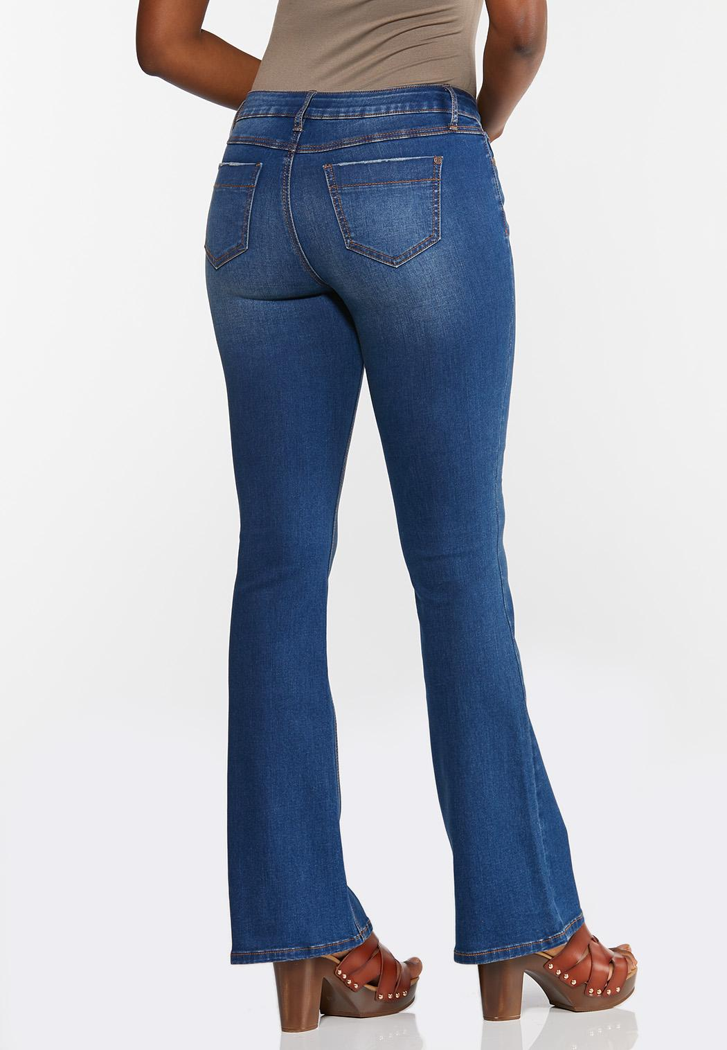 Flare Mid-Rise Jeans (Item #44350214)