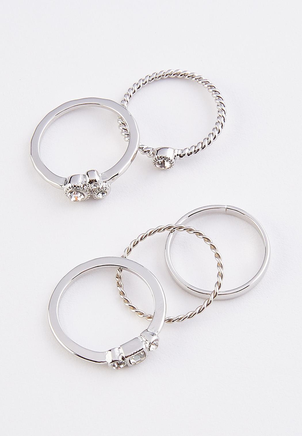Mixed Silver Ring Set (Item #44350316)