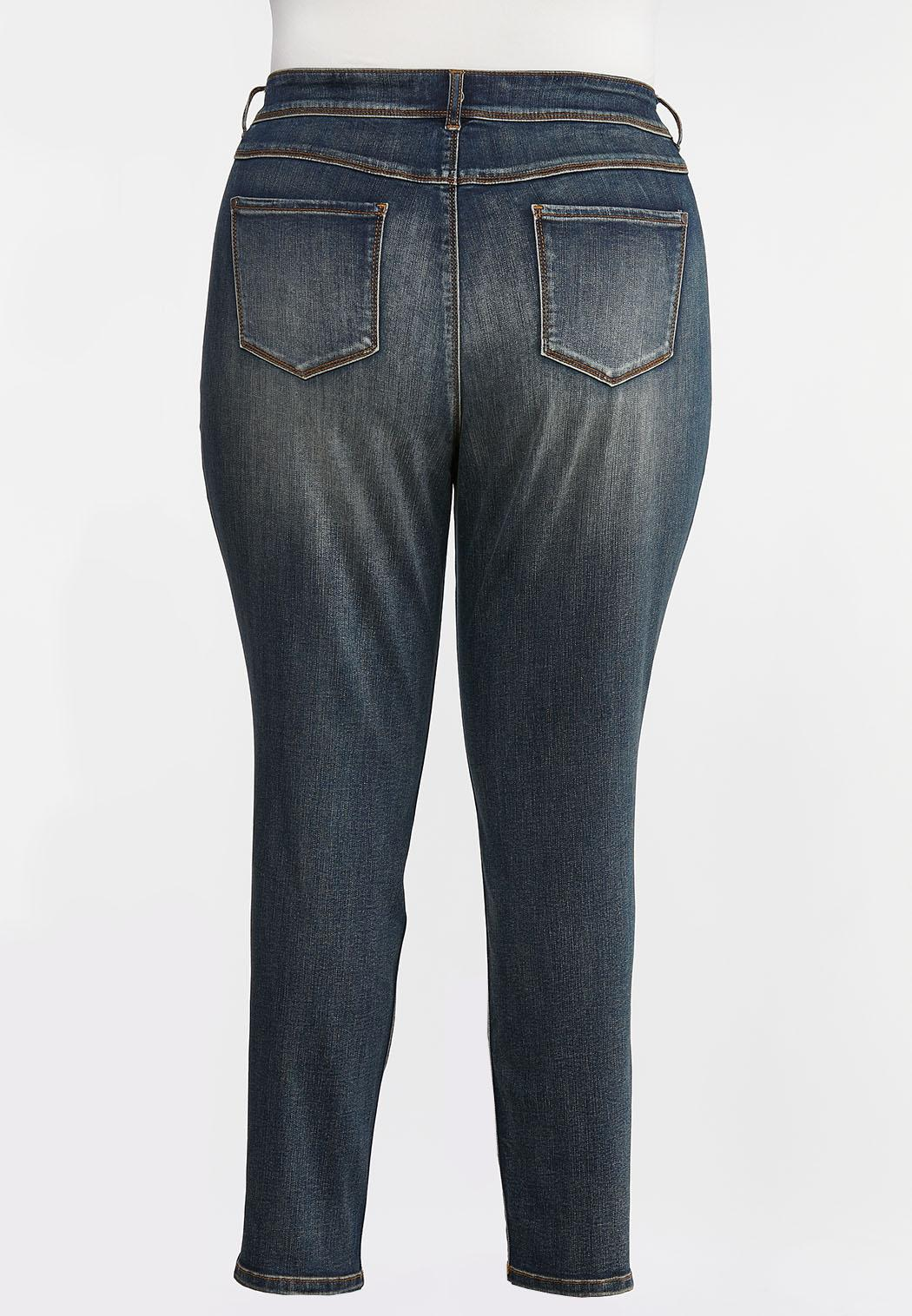 Plus Size Mid-Rise Skinny Jeans (Item #44350393)