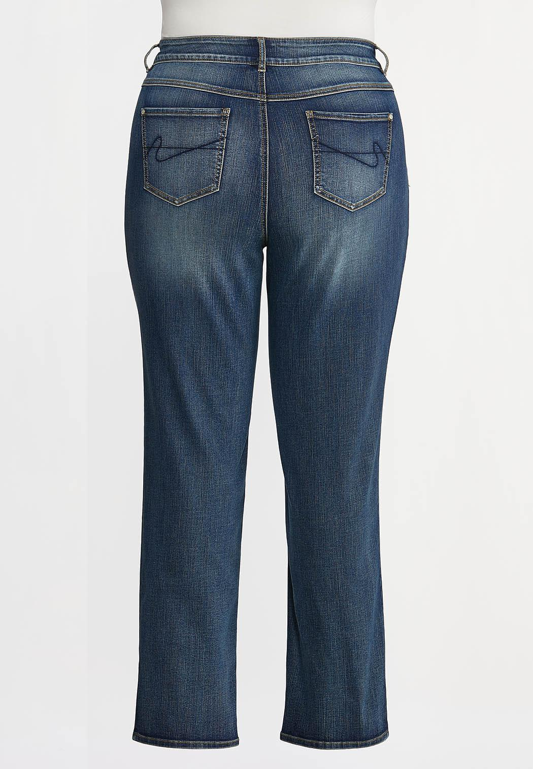 Plus Petite Straight High-Rise Jeans (Item #44350733)