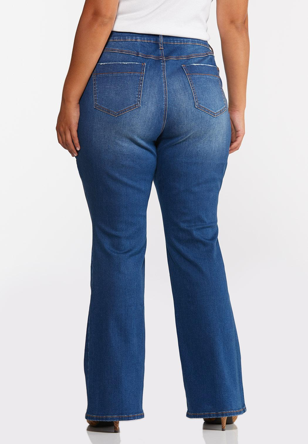Plus Size Flare High-Rise Jeans (Item #44350808)