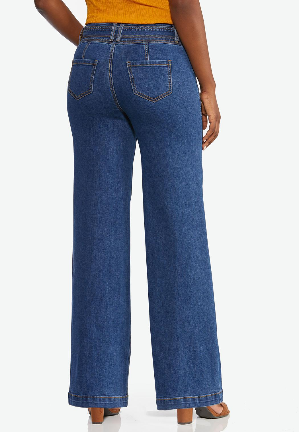Tie Front Flare Jeans (Item #44350982)