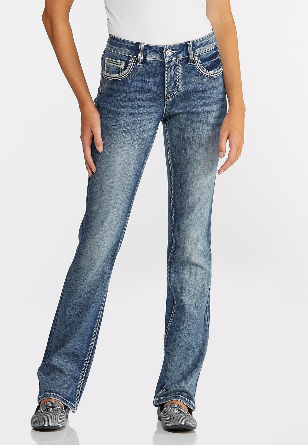 Embellished Cross Pocket Jeans (Item #44351019)