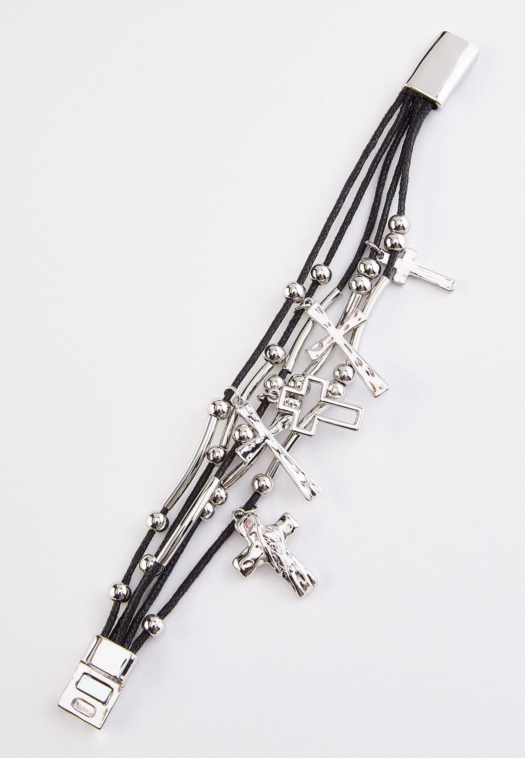 Layered Cross Cord Bracelet (Item #44351182)