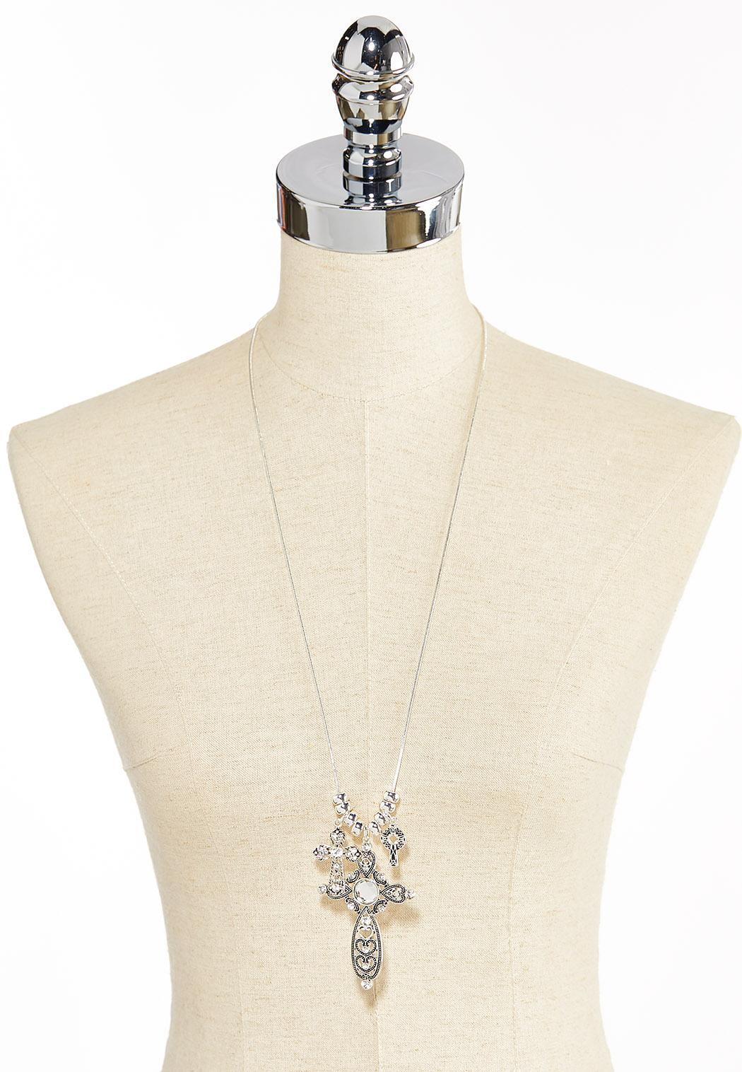 Filigree Cross Pendant Necklace (Item #44351311)