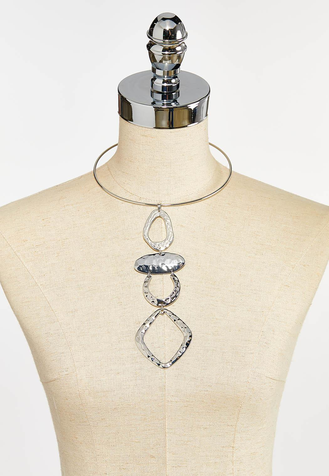Abstract Metal Pendant Necklace (Item #44351315)