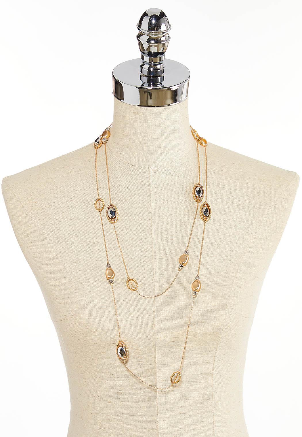Multi Glass Bead Illusion Necklace (Item #44352482)