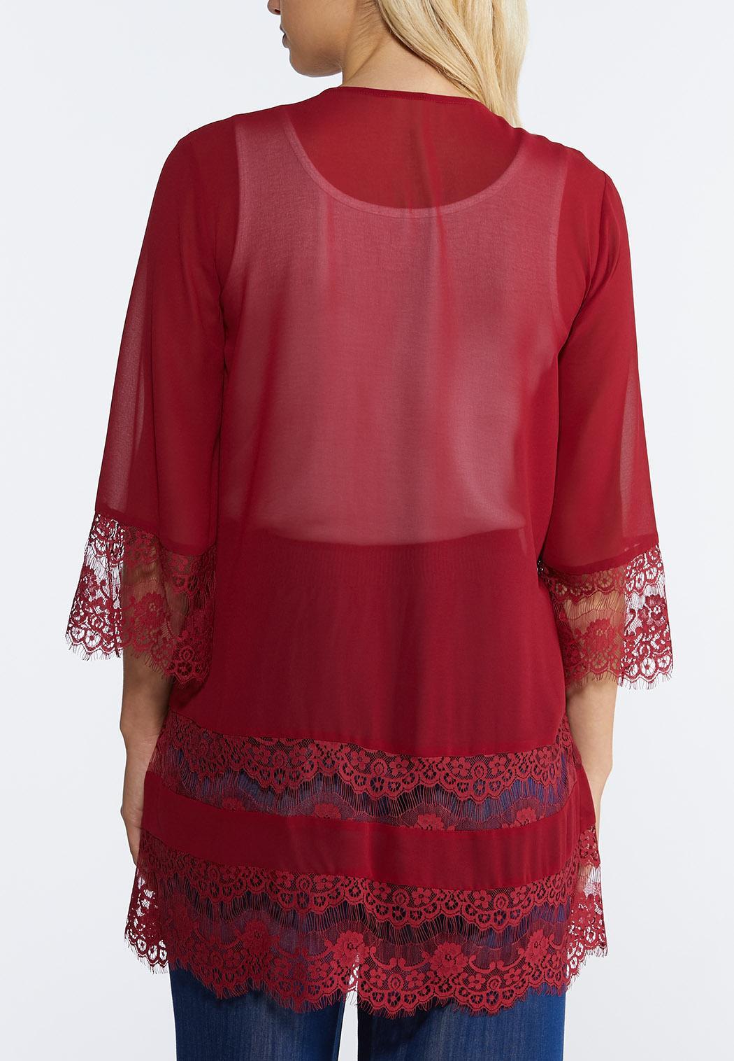 Lace Trim Kimono (Item #44352859)
