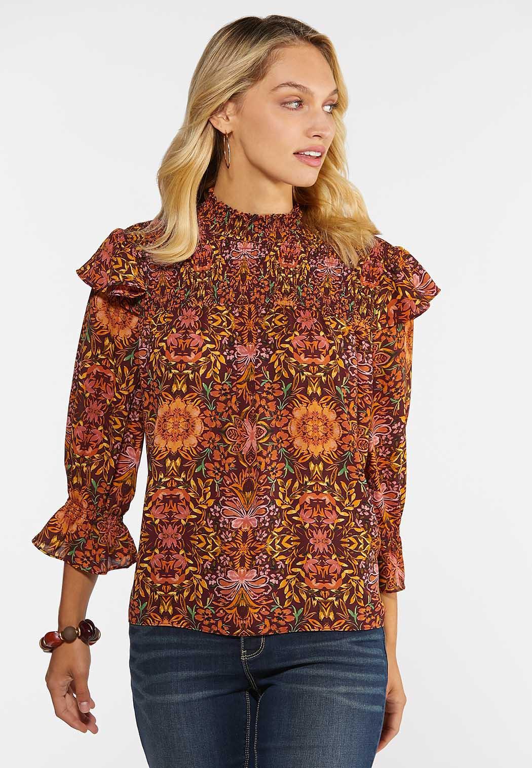 Smocked Floral Top (Item #44353254)