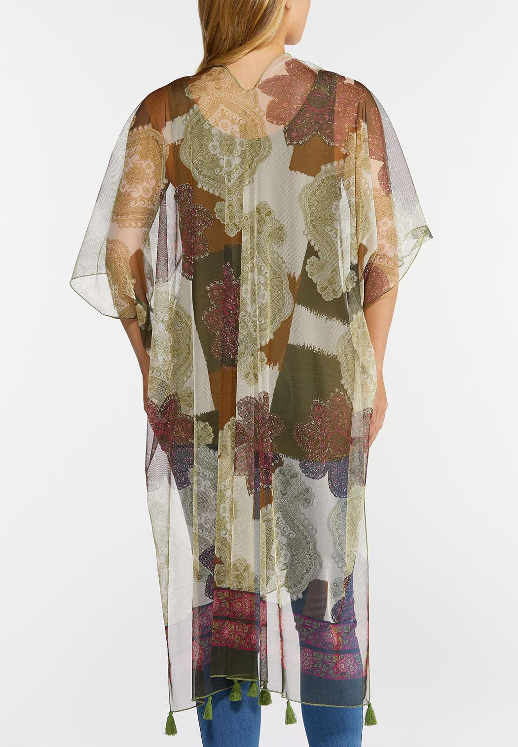 Sheer Tasseled Kimono (Item #44353456)