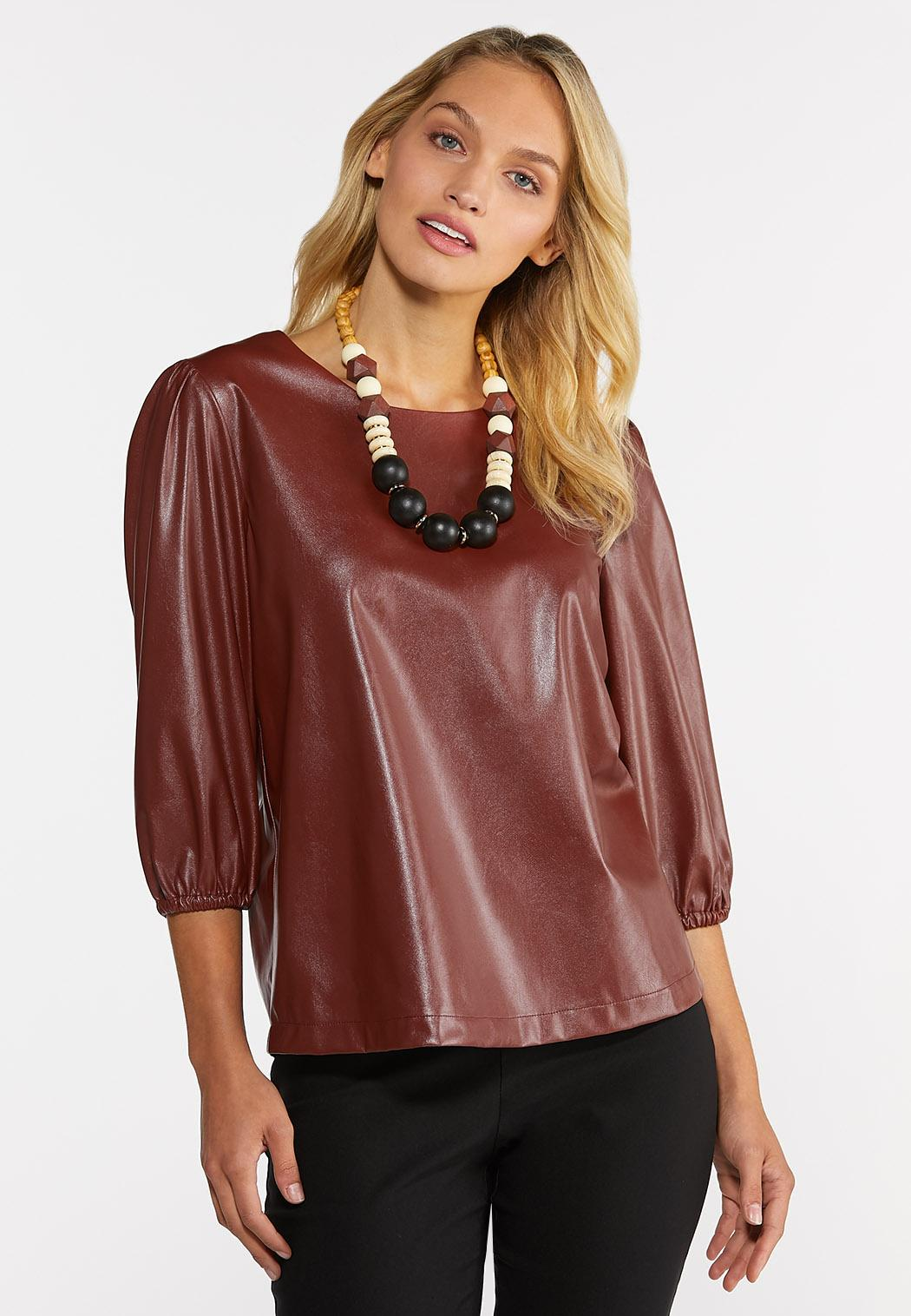 Faux Leather Top (Item #44353960)