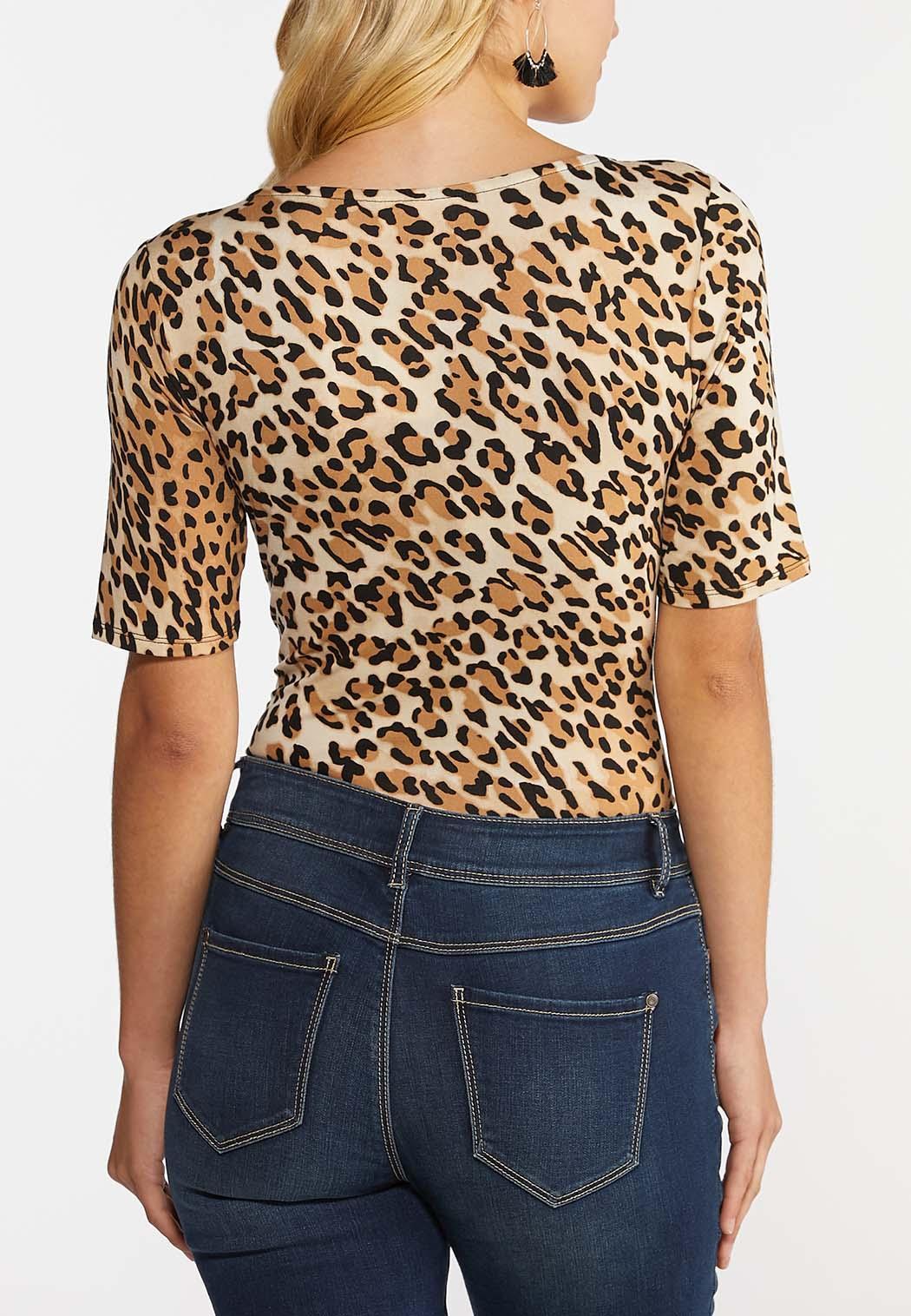Leopard Print Bodysuit (Item #44356823)