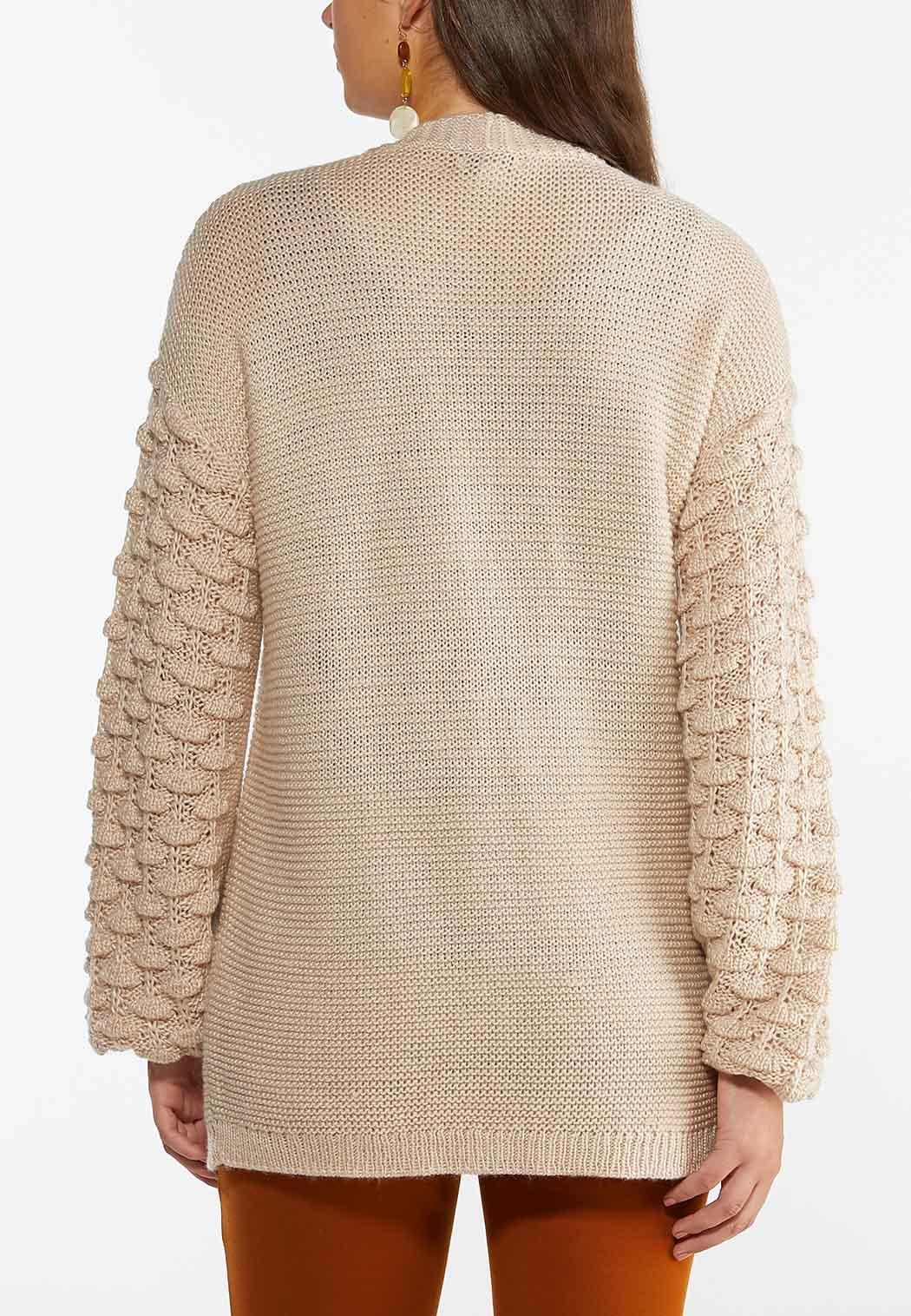 Balloon Sleeve Cardigan Sweater (Item #44356996)