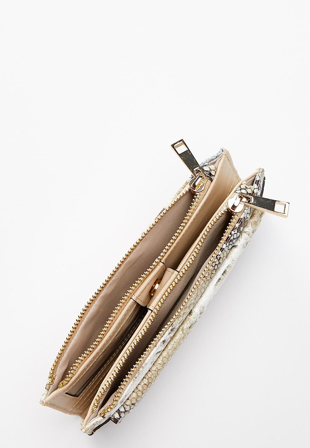 Snakeskin Double Zip Wallet (Item #44357481)