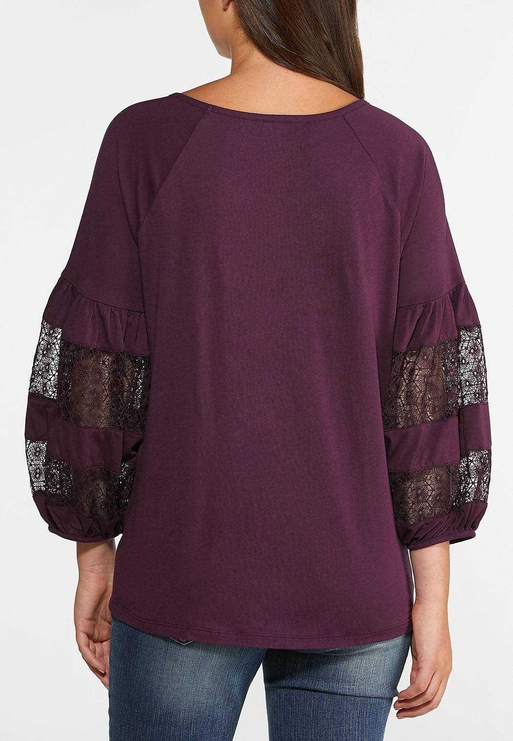 Lacy Balloon Sleeve Top (Item #44357947)