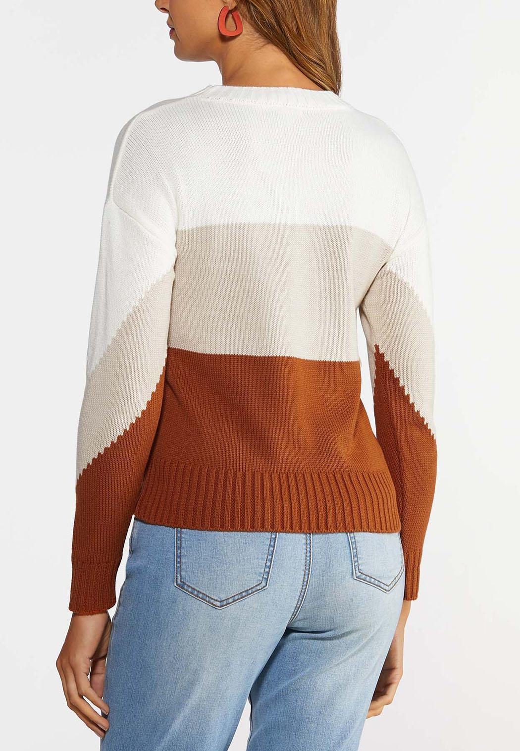 Colorblock Fringe Sweater (Item #44359177)