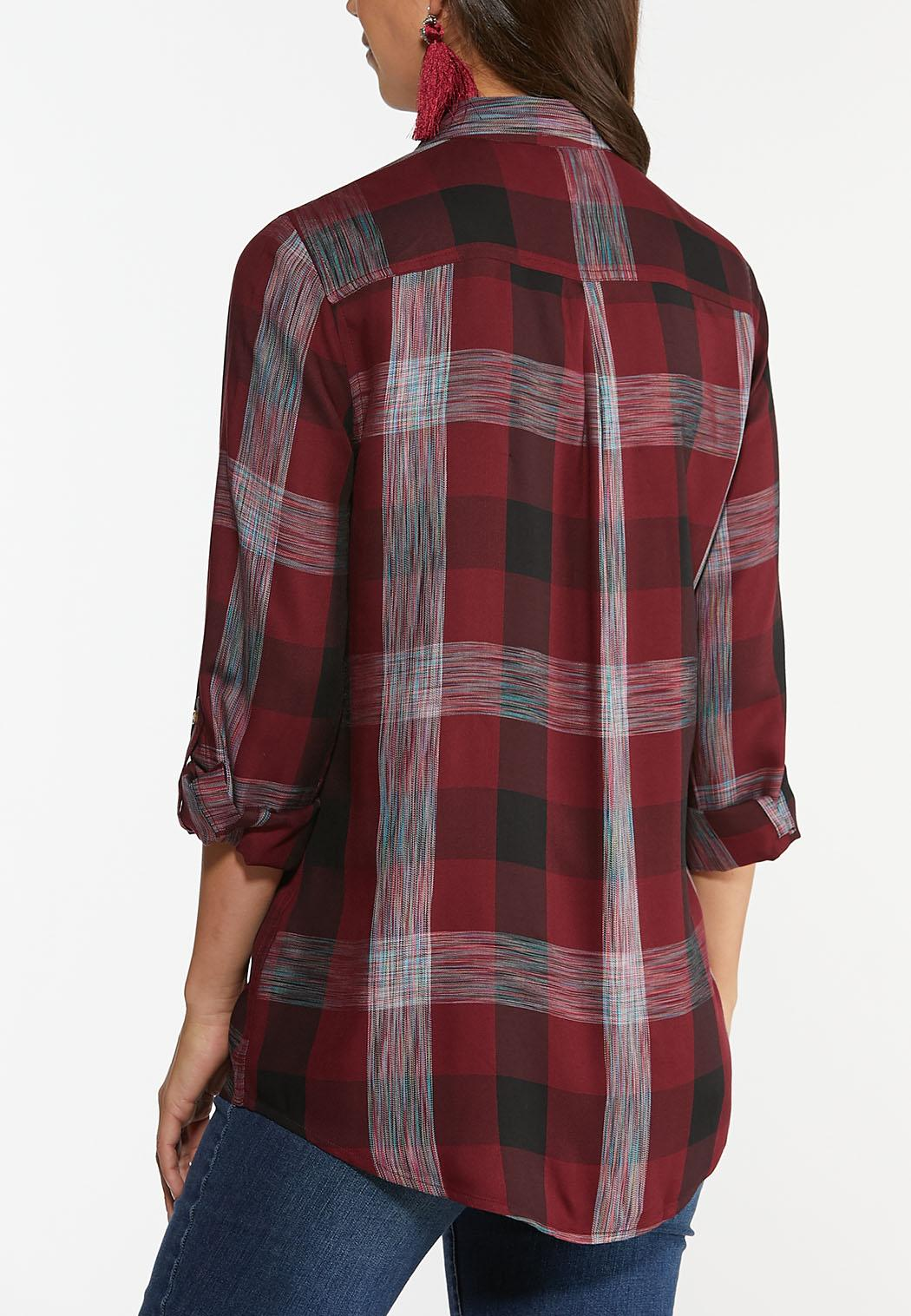 Multi Wine Plaid Shirt (Item #44359249)