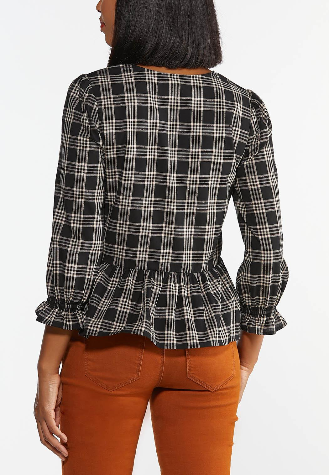 Checkered Peplum Top (Item #44359285)