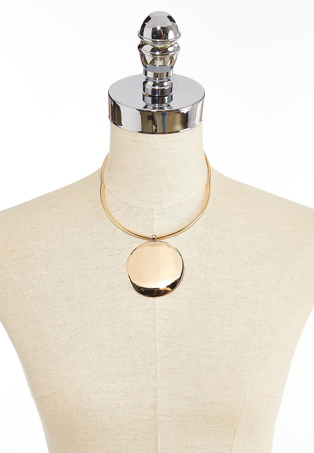 Gold Disk Statement Necklace (Item #44361795)
