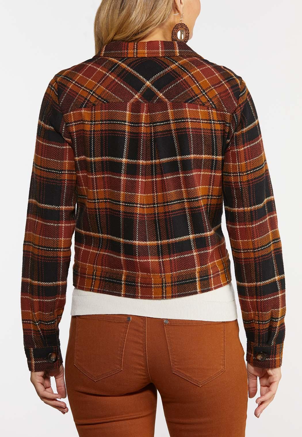 Plus Size Autumn Plaid Jacket (Item #44361980)