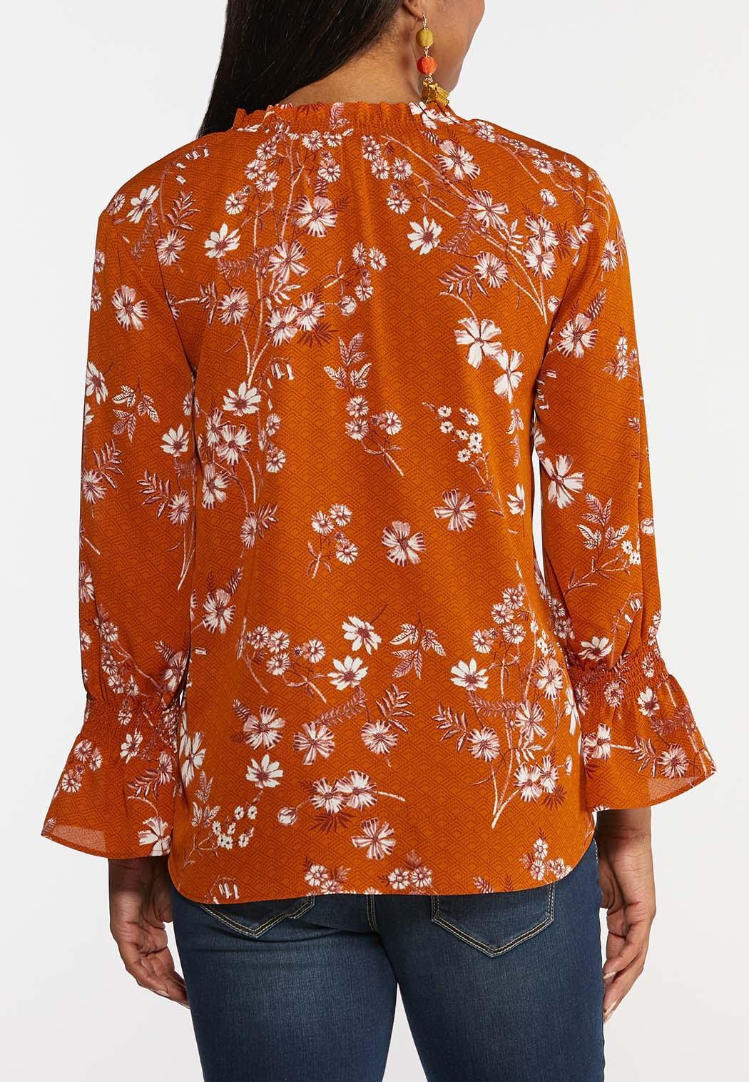 Orange Floral Top (Item #44362393)
