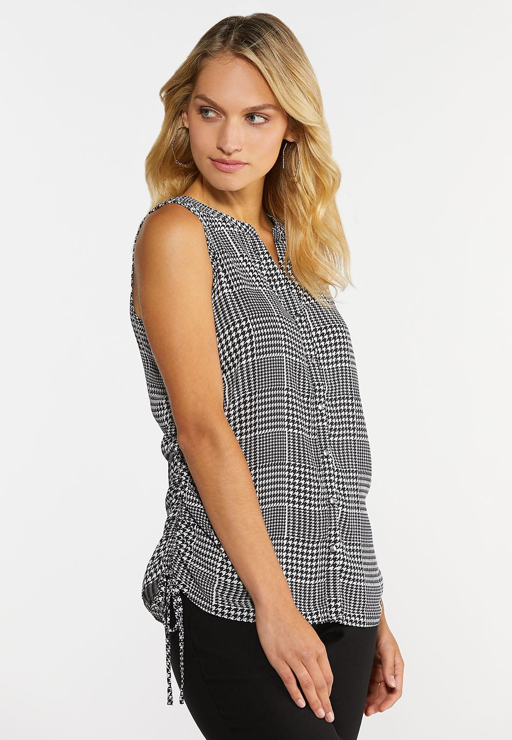 Houndstooth Ruched Tank (Item #44362517)