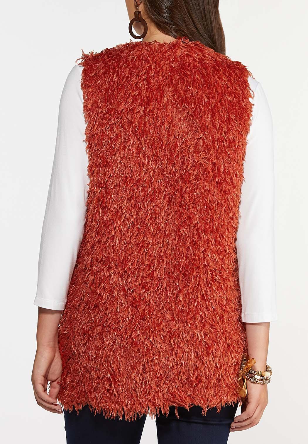 Plus Size Textured Eyelash Vest (Item #44363189)