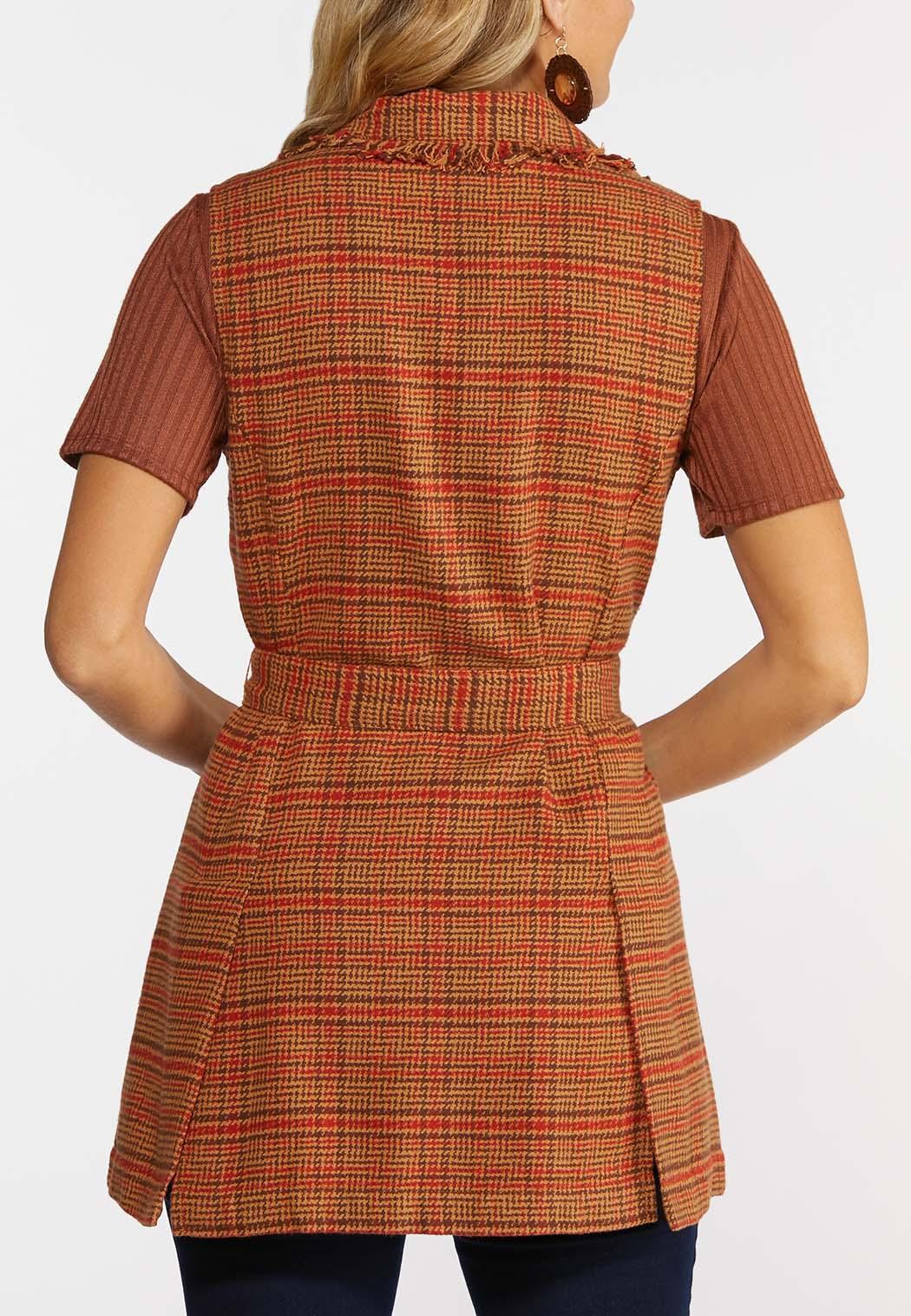 Belted Plaid Vest (Item #44364235)
