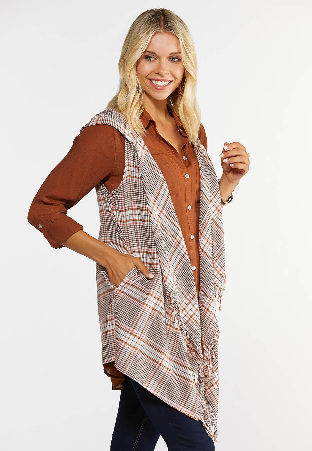 Plaid Hooded Vest (Item #44364824)