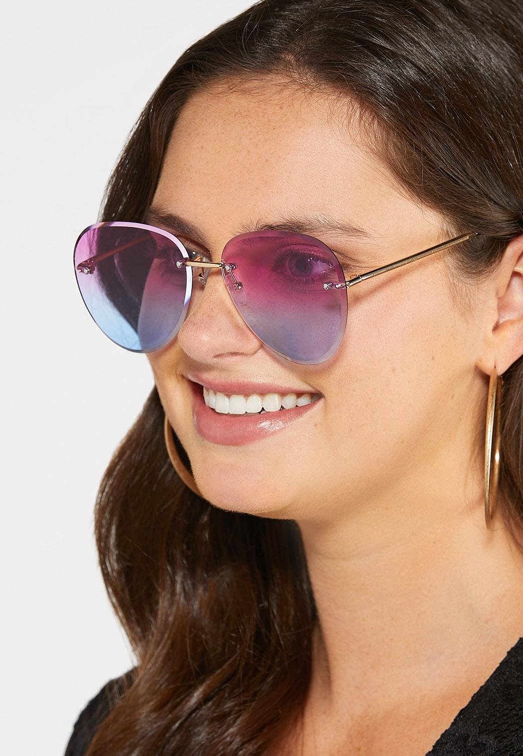 Sunset Skies Beveled Sunglasses (Item #44366241)