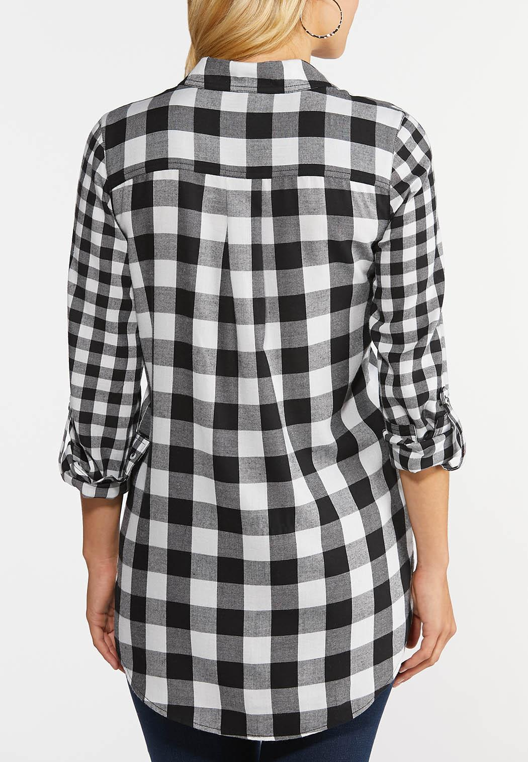 Black And White Plaid Shirt (Item #44366678)