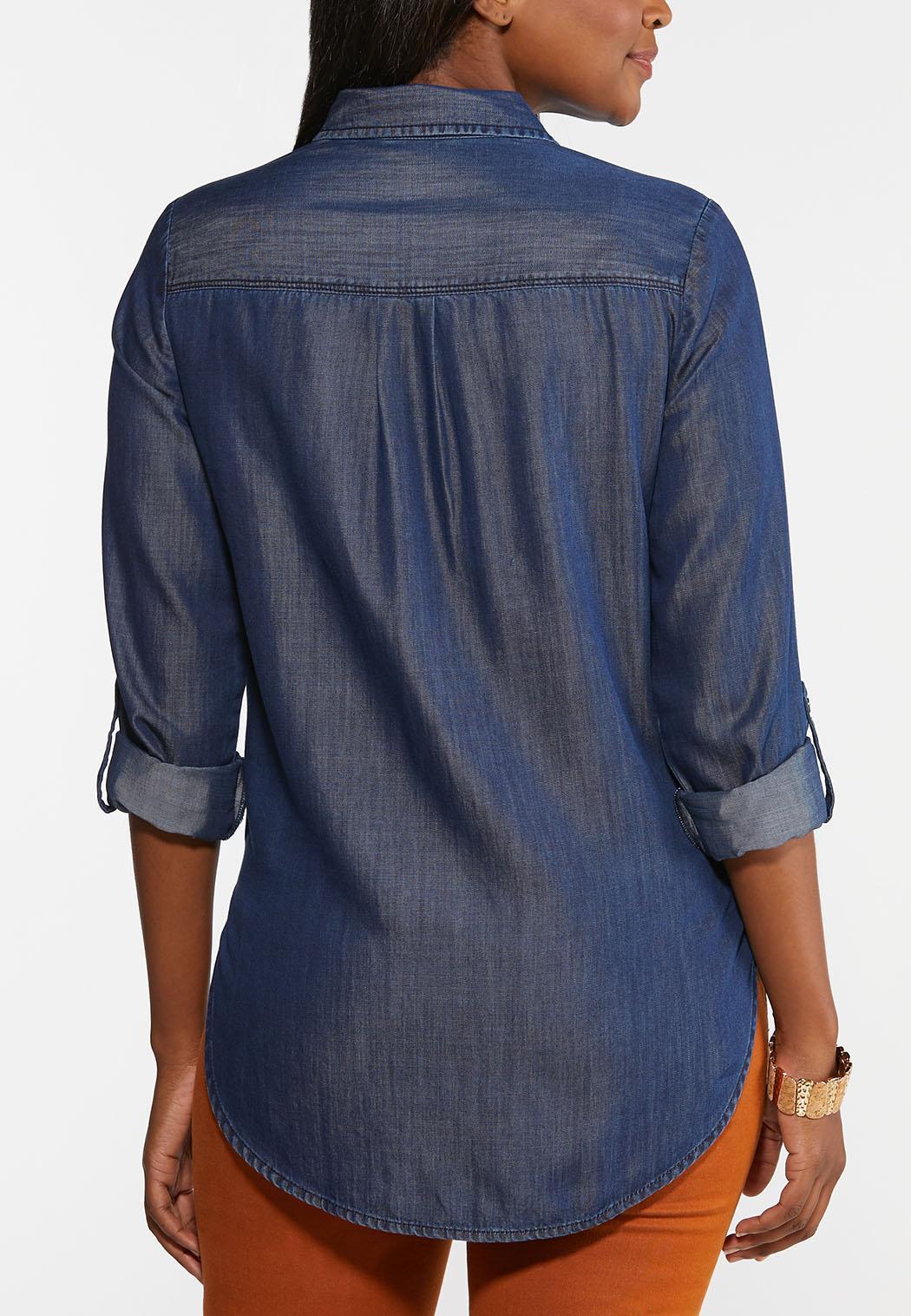 Plus Size Chambray Tunic (Item #44366806)