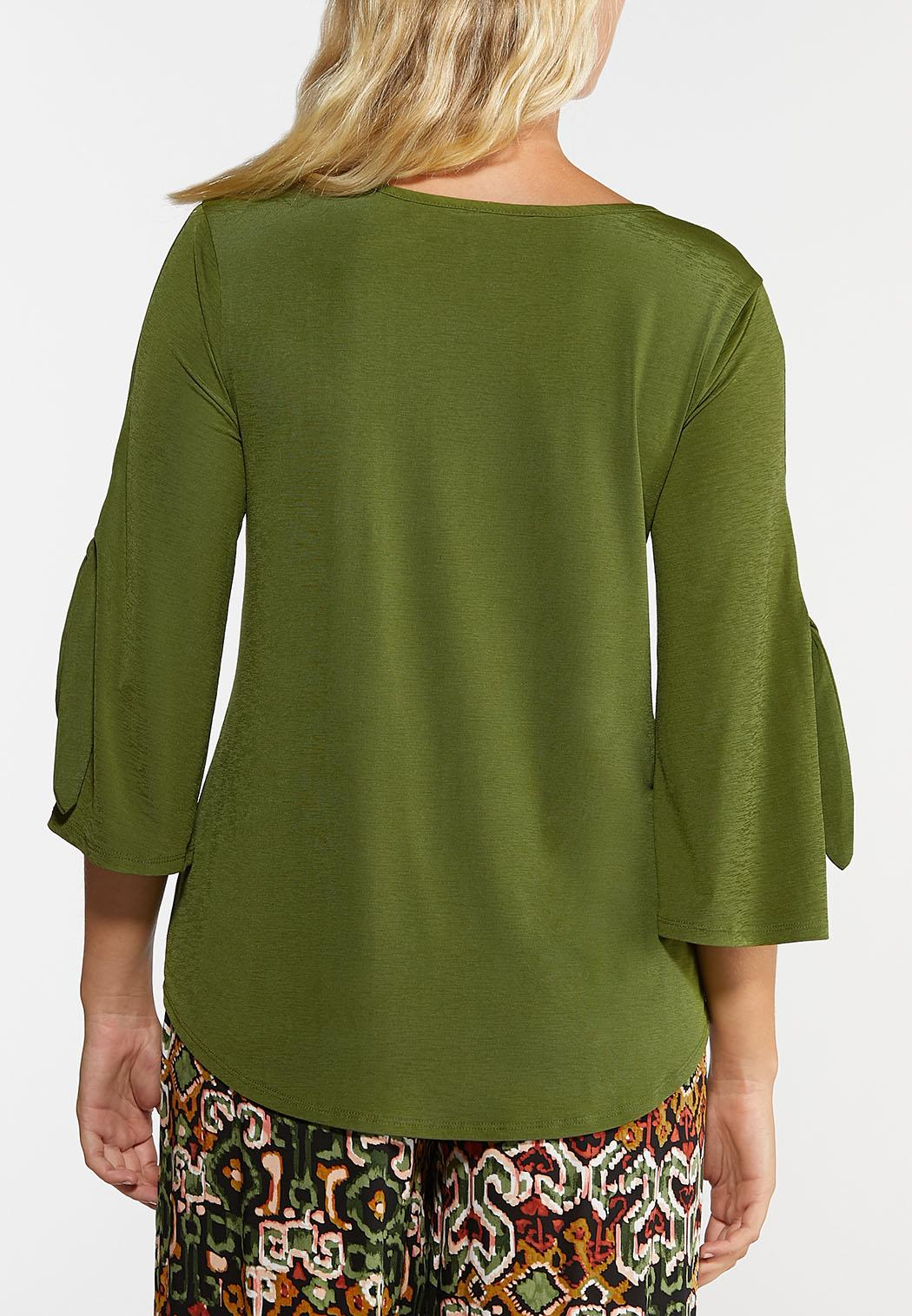 Green Tie Sleeve Top (Item #44367446)
