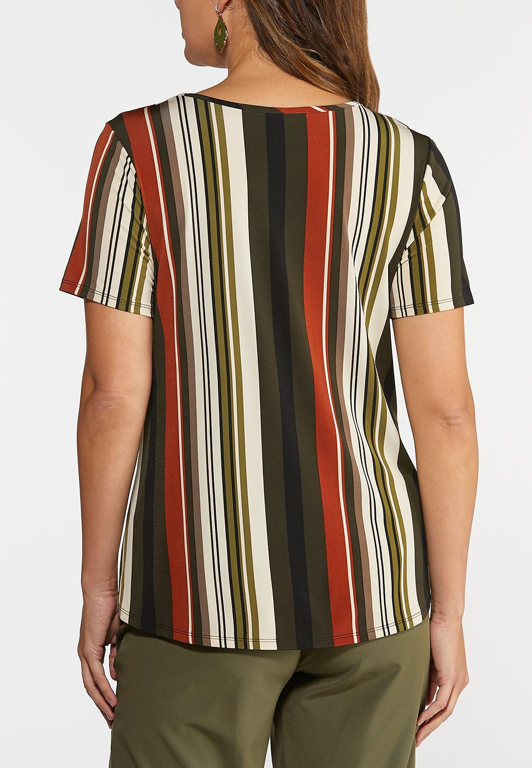 Plus Size Spicy Stripe Top (Item #44367719)