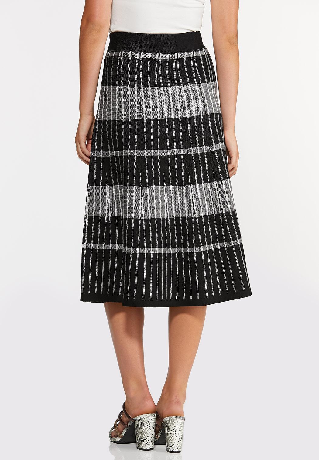 Stripe Plaid Sweater Skirt (Item #44369149)