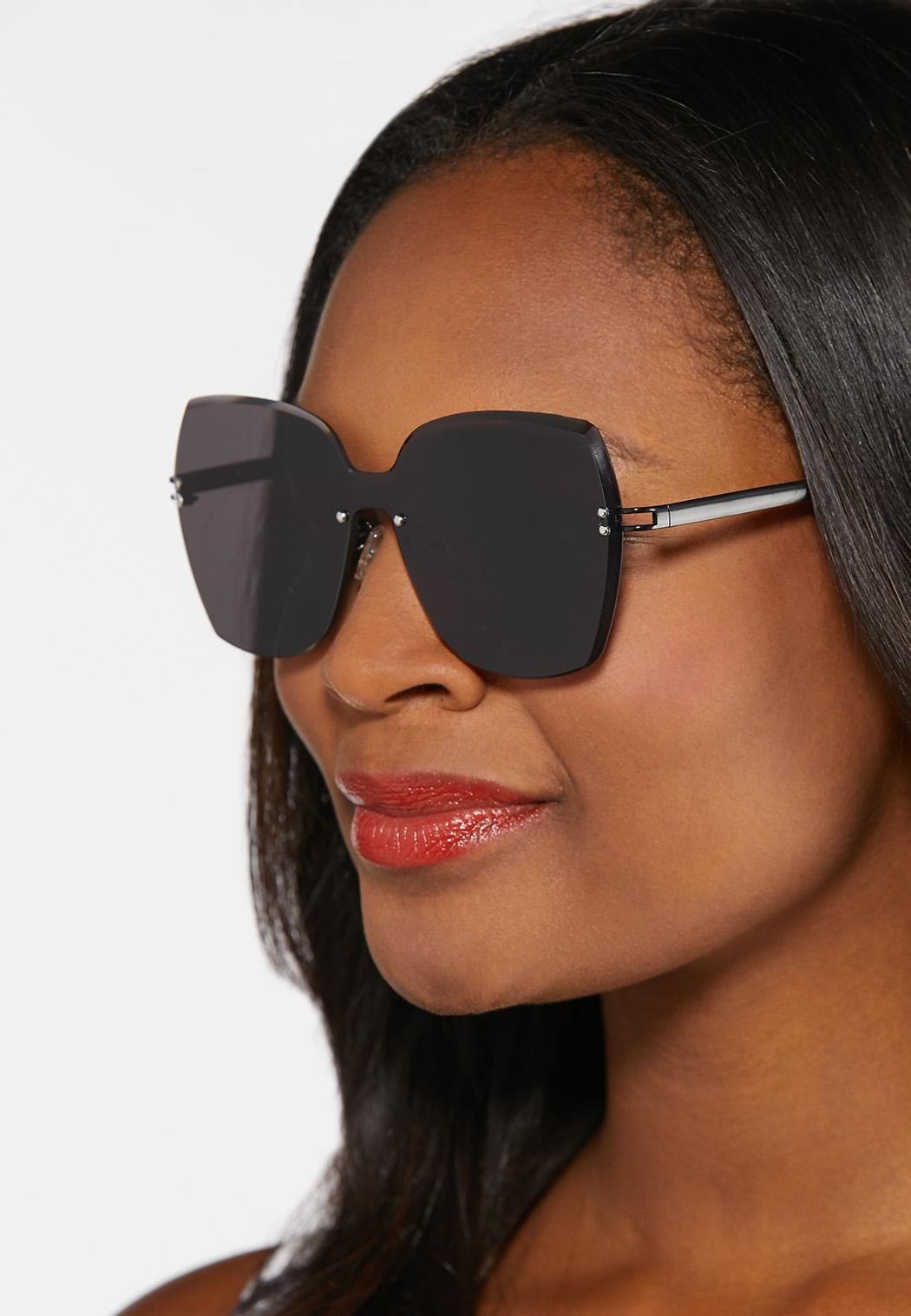 Beveled Rimless Sunglasses (Item #44369501)
