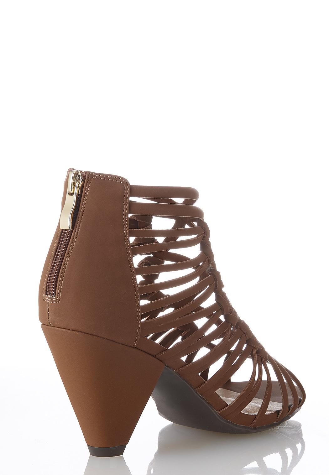 Caged Cone Heel Sandals (Item #44369547)