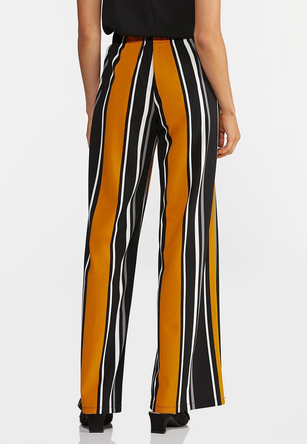 Golden Stripe Wide Leg Pants (Item #44370740)