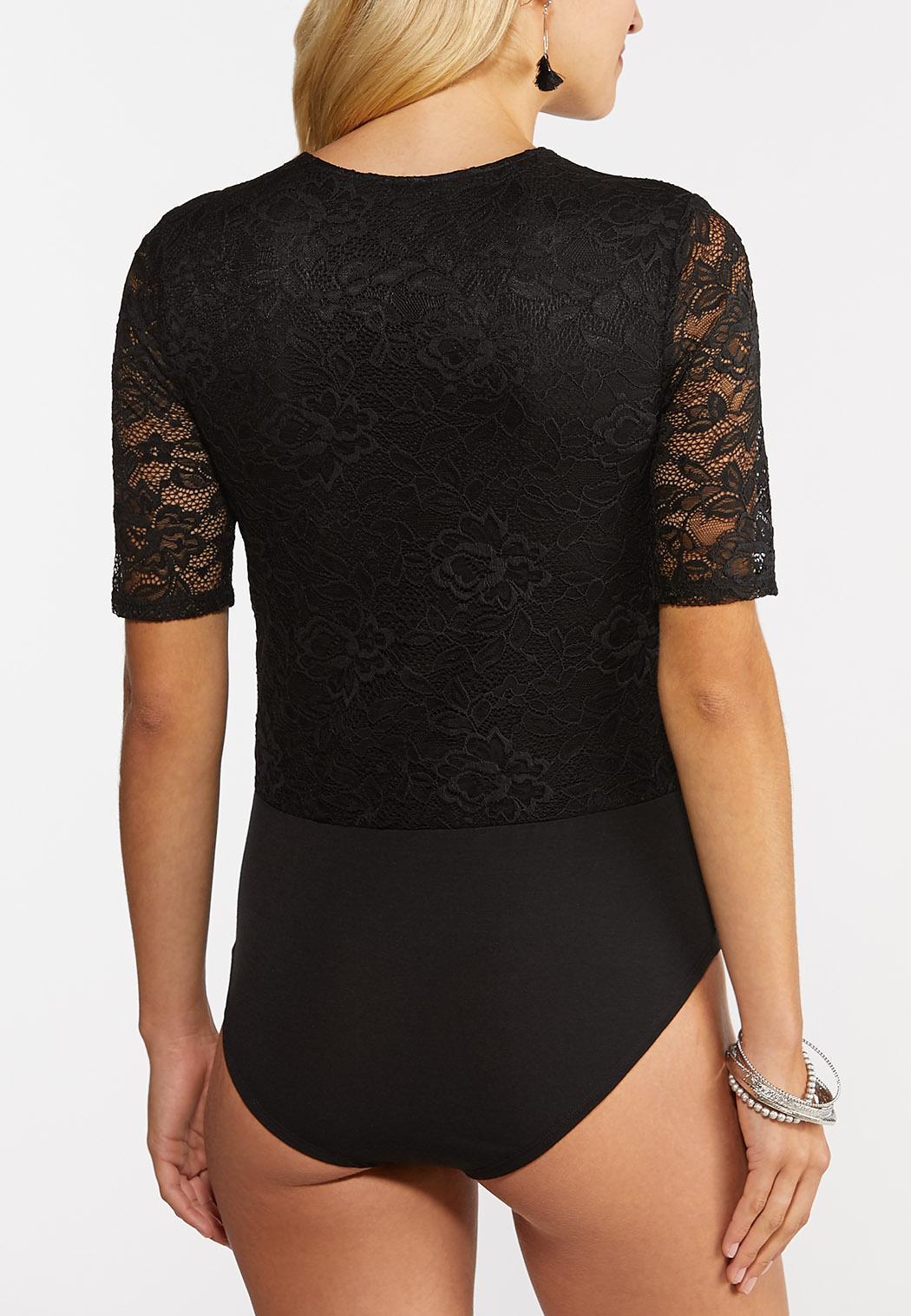 Black Lace Bodysuit (Item #44371295)