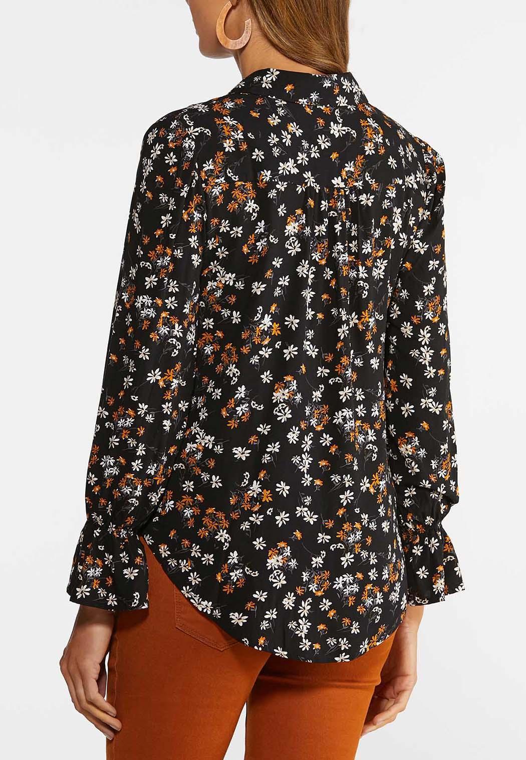 Plus Size Floral High-Low Shirt (Item #44372582)