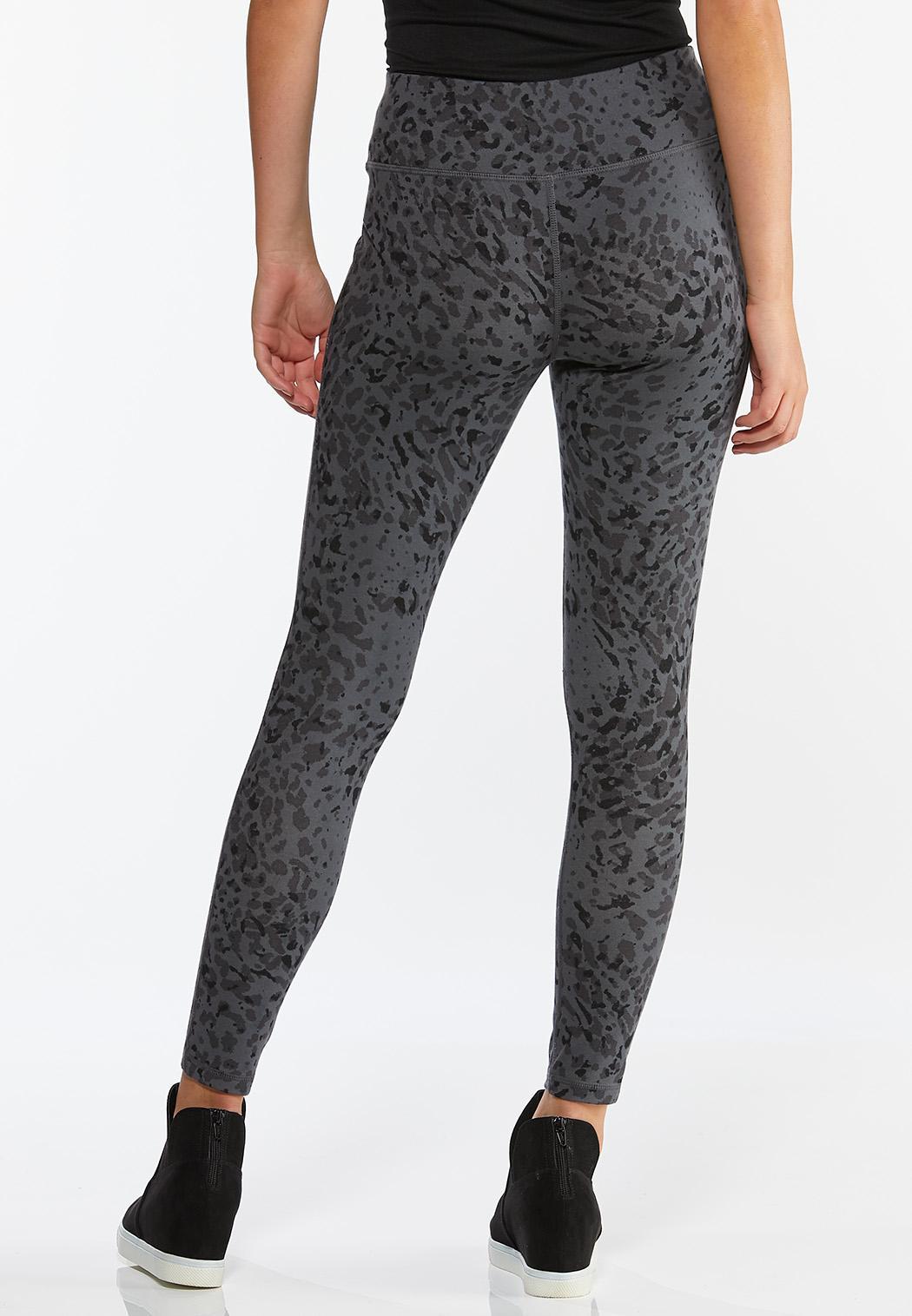 Gray Leopard Leggings (Item #44374250)