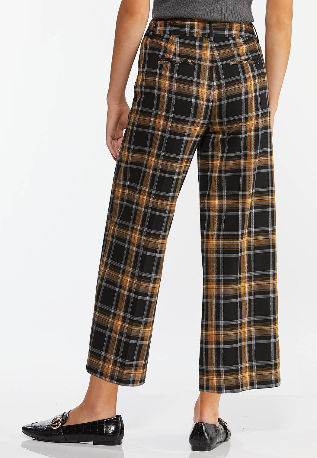 Cropped Plaid Pants (Item #44374696)